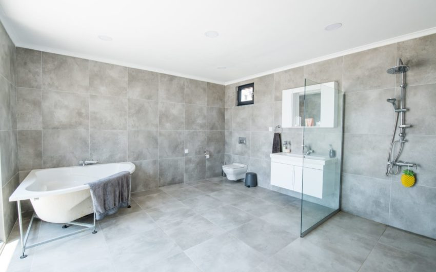 spacious bath and shower room, luxury villa for sale, kalkan